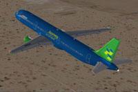 Screenshot of Airbus A321 in flight.