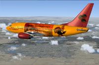 Screenshot of MayFlower Boeing 737-600 in flight.