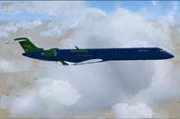 Screenshot of Bombardier CRJ-900 in flight.