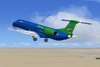 Screenshot of Embraer E145 taking off.