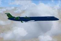 Screenshot of Embraer E190 in flight.