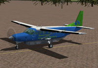 Screenshot of Journey Cessna 208B on the ground.