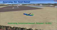 Screenshot of Journey International Airport scenery.
