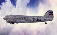 Screenshot of Jugoslovenski Aerotransport Douglas C-47 in flight.