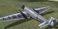 Screenshot of Junkers Ju-52 on the ground.