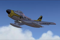 Screenshot of F-86D/K Sabre Dog in flight.
