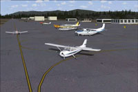 Screenshot showing planes on the ground at Arlington Municipal.