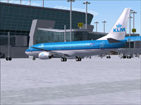 Screenshot of KLM Boeing 737-800 on the ground.