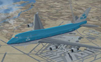 Screenshot of KLM Boeing 747-400 in flight.