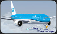Screenshot of KLM Boeing 777-200 in flight.