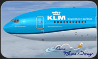 Screenshot of KLM Boeing 777-300ER in flight.