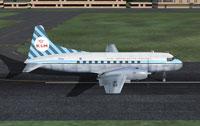 Screenshot of KLM CV-340 on runway.
