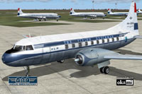 Screenshot of KLM Convair CV-240 on the ground (front left).