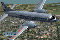 Screenshot of KLM Convair CV-240 VBF CA-18 in flight.