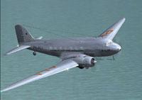 Screenshot of KLM Douglas DC-3 in flight.