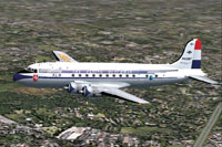 Screenshot of KLM Douglas DC-4-1009 in flight.