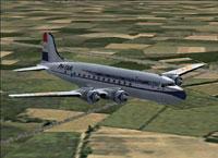 Screenshot of KLM Douglas DC-4-1009 in flight.