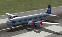 Screenshot of KLM Douglas DC-7C on runway.