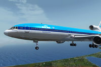 Screenshot of KLM Lockheed L-1011 TriStar in flight.