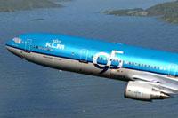Screenshot of KLM McDonnell Douglas MD-11 in flight.
