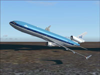 Screenshot of KLM McDonnell Douglas MD-11 in flight.