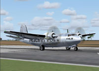 Screenshot of KNILM Douglas DC-5 on runway.