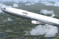 Screenshot of Kalitta McDonnell Douglas MD-11 in flight.