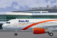 Screenshot of Kamair Airbus A320 on the ground.