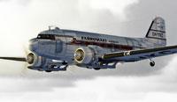 Screenshot of Karhumaeki Airways Douglas C-47 in flight.