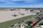 Screenshot of Kelly-Lackland AFB scenery.