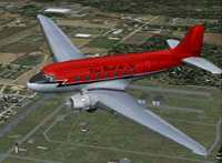 Screenshot of Ken Borek Air Ltd Douglas DC-3 in flight.