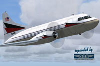 Screenshot of Kenaire Corp. Convair CV-240 in flight.