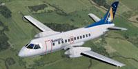 Screenshot of Kendell Airlines SAAB 340B in flight.