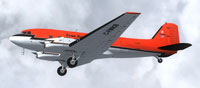 Screenshot of Kenn Borek Air Basler BT-67 C-FMKB in flight.