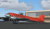 Screenshot of Kenn Borek Douglas DC-3 on the ground.