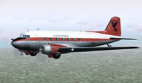 Screenshot of Kestrel Aviation Douglas DC-3 in flight.