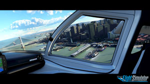 Cityscape in flight.