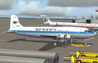 Korean Air Lines Douglas DC-4 HL4003 on the ground.