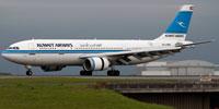 Kuwait Airways Airbus A300 on runway.