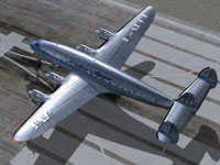 Screenshot of L'Air Azur Lockheed 049A on runway.