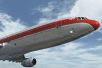 Screenshot of L-1011 TriStar in flight.