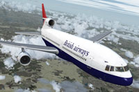 Screenshot of BA L-1011 TriStar in flight.