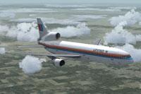 Screenshot of L-1011 TriStar N510PA in flight.