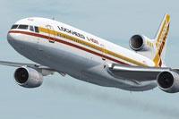 Screenshot of L-1011 TriStar Prototype Advanced in flight.