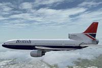 Screenshot of L-1011 TriStar in flight.