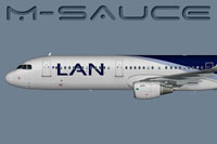 Side view of LAN Airlines Airbus A321S.
