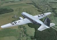 Screenshot of LOT Douglas DC-2 in flight.
