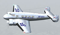Screenshot of LOT Lockheed L-10 Electra in flight.