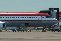 Screenshot of LTU Airlines Boeing 737-800WL on the ground.