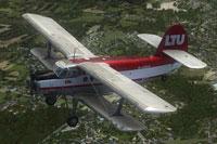 Screenshot of LTU Antonov An-2 Colt in flight.